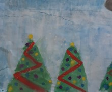 Winter scene xmas trees water painting thumbnail 20201210 100309