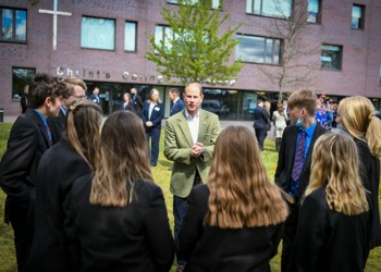 HRH The Earl of Wessex Visits Christ's College