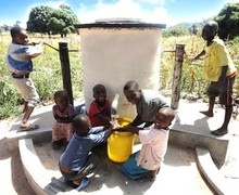Children at Elephant Pump