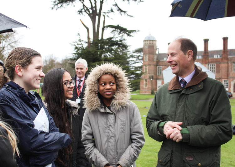 A Royal Visit for Cobham Hall