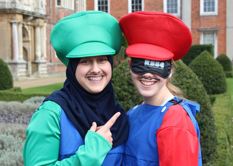 Cobham Hall Girls Running Blind for RSBC
