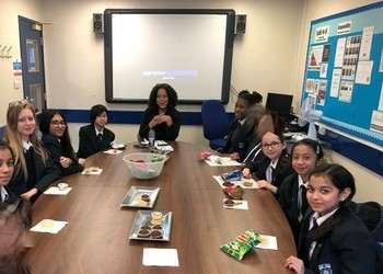 Students have Tea with Ms Forde