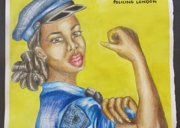 Congratulations to Fatma O. Year 9 is a prize winner of the Metropolitan Police's Schools 100 years of Women Celebrations Art competition