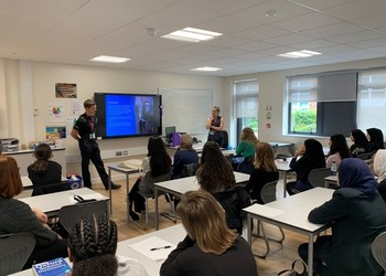 British Transport Police deliver a workshop to Year 12 students