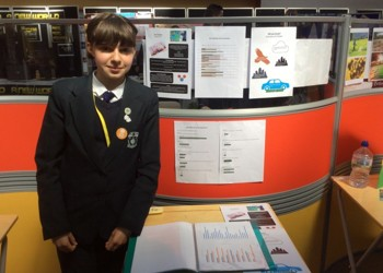 Mayor of London Scientist Project Prize winner Irene W. in Year 8.