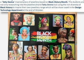 DT Department focuses on Jewellery Design for Black History Month