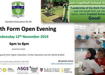 Sixth Form Open Evening 13th November 2019