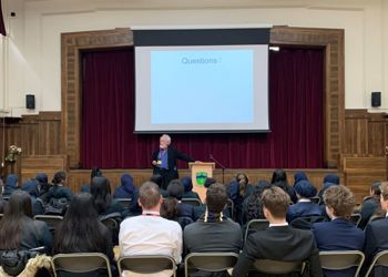 Professor of IT Martyn Thomas CBE visits Copthall School
