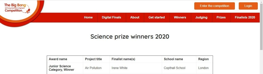 Science Prize winners
