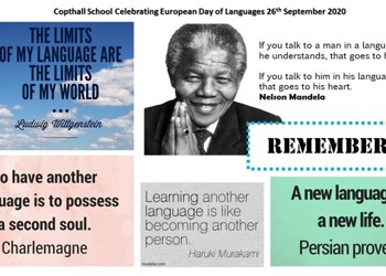 Copthall School Celebrating European Day of Languages 26th September 2020