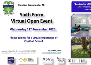 Sixth Form Virtual Open Event