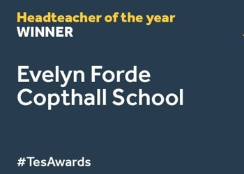 Ms Forde is the WINNER of the Headteacher of the Year TES Award 2020