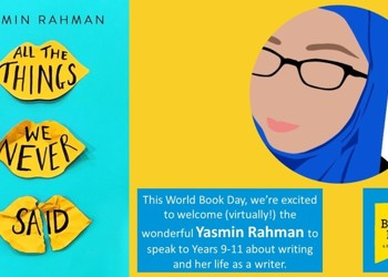 We Welcome Yasmin Rahman on World Book Day 2021