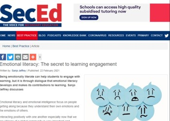 Ms Jeffrey writes Emotional literacy: The secret to learning engagement