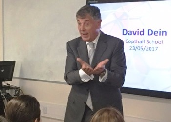 David Dein visits Copthall School
