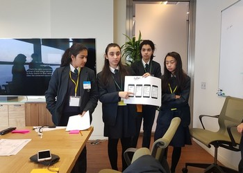 Year 9 at the Salesforce Office, London