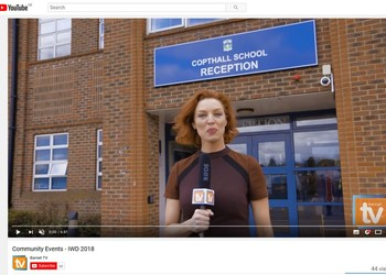 Copthall School video filmed by Barnet TV on IWD