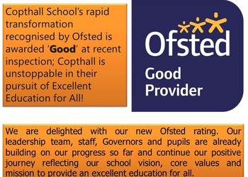 Copthall School has been awarded 'Good' status by Ofsted