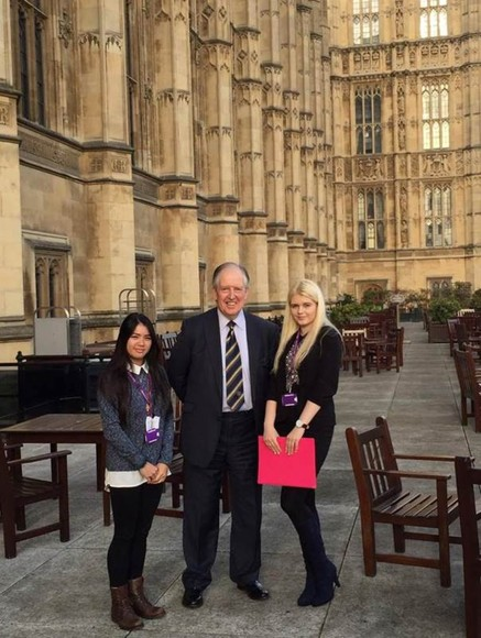 Simona & Catherine with Lord McNally at HoP