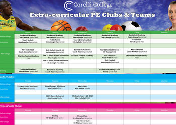 Sports and PE Clubs this term