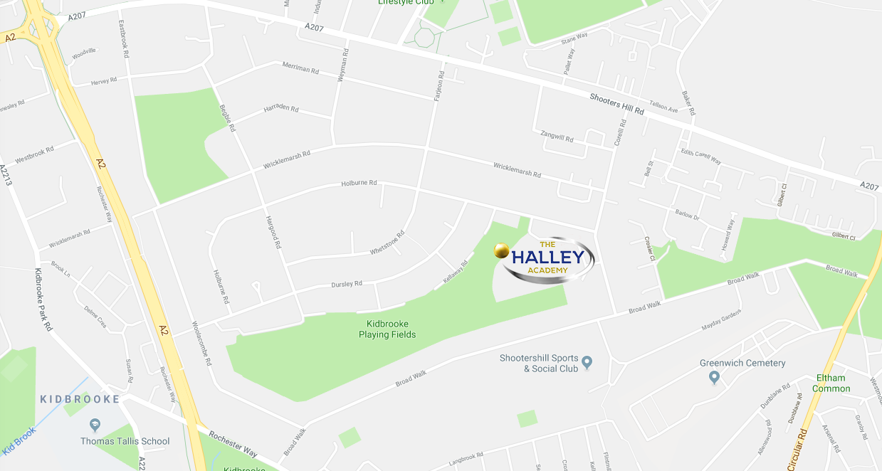 Halley academy street map
