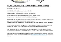 Halley Academy U14s Basketball