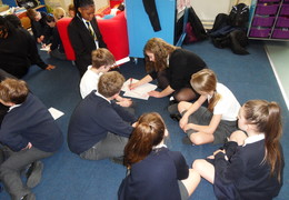 The Halley Academy Social Action Group visit Gordon Primary School