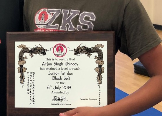 Arjun gains black belt