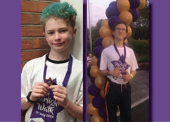 Students complete charity walk