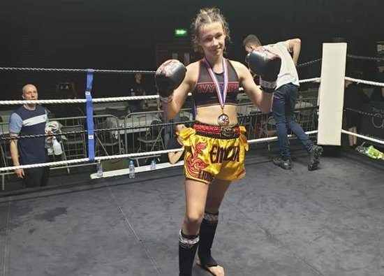 Year 8 Girl Wins to Retain UK Number 1 Spot in Muay Thai