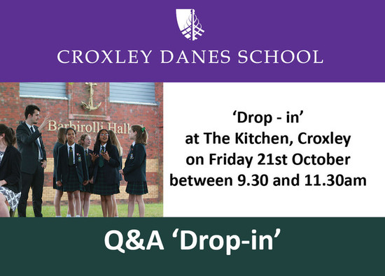Q&A 'Drop-in' to be held on Friday 21st October