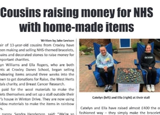 Croxley Danes Students Raise Money for Charity