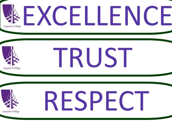 Excellence, Respect & Trust