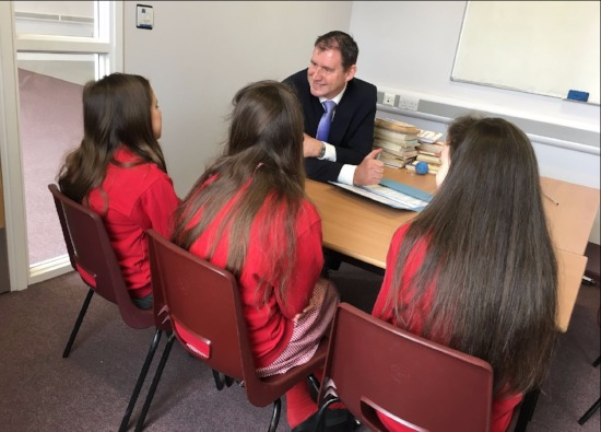 Headteacher meets first Croxley Danes students