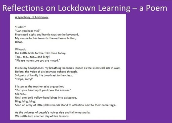 A Symphony of Lockdown by Bibi M, Year 9