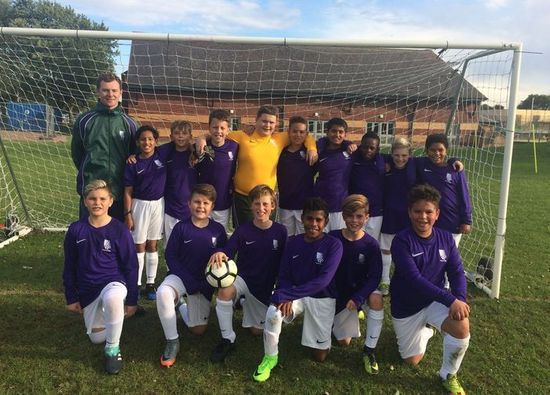 Boys show great perseverance in first football match