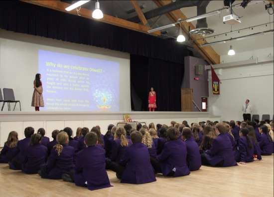 First student-led assembly celebrates Diwali