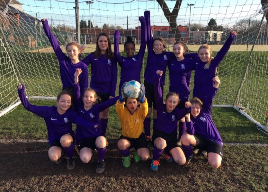 First victory for girls' football team