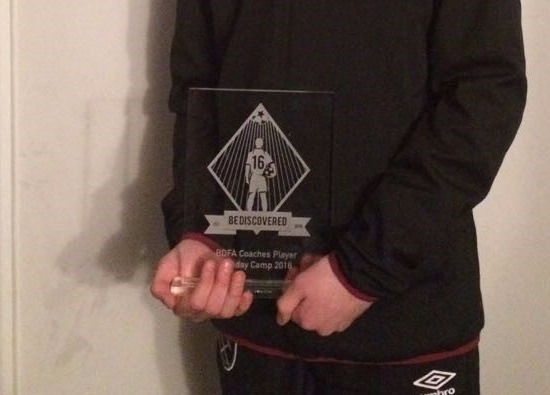 Haydn receives football award