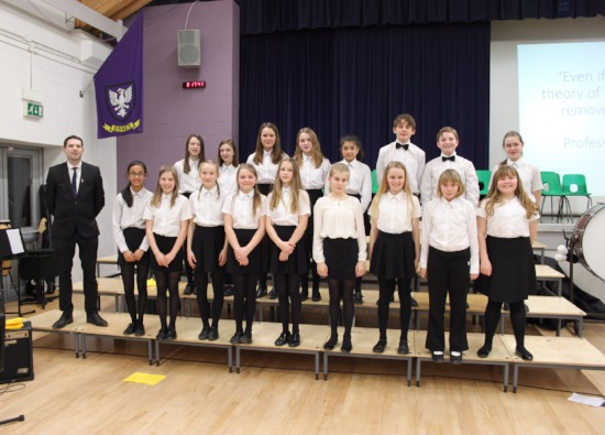 Inaugural performance of the Croxley Danes School Choir takes place