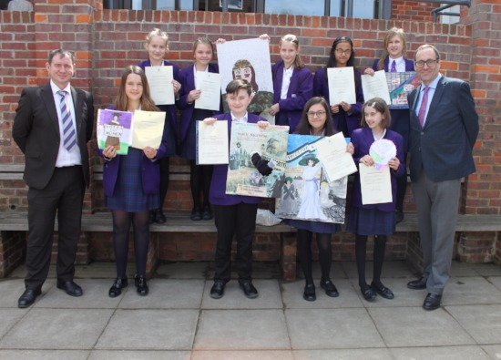 CDS students win art competition and meet Richard Harrington, MP