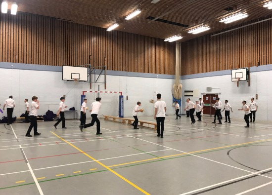 Students enjoy dodgeball event