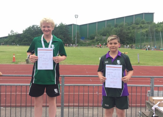 Noah comes 2nd in Javelin at County Schools Championships