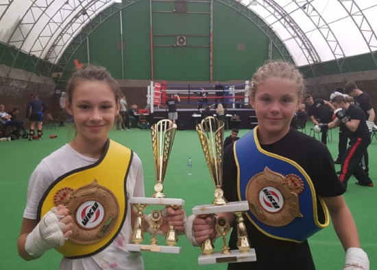 Ellie and Emilia win more Kick Boxing Titles