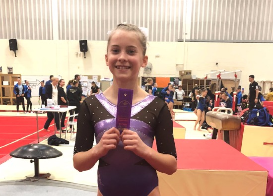 Gymnastics Success for Kiera