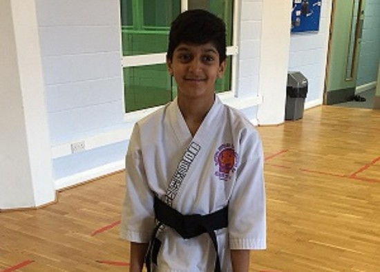 Ayush gains black belt in Karate!