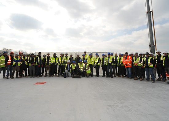 Topping Out Ceremony at Baldwins Lane