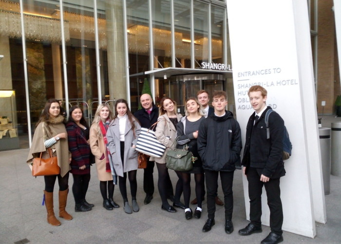 Y13 Travel and Tourism group visit The Ritz and Shangri-La Hotels