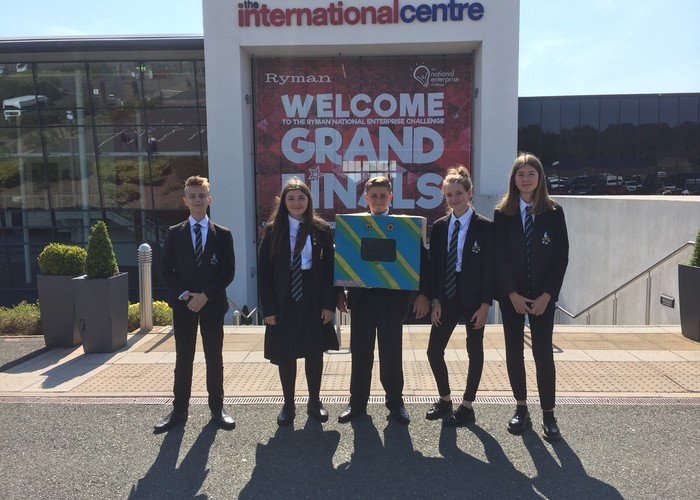 The Deepings School at the finals of The Ryman National Enterprise Challenge