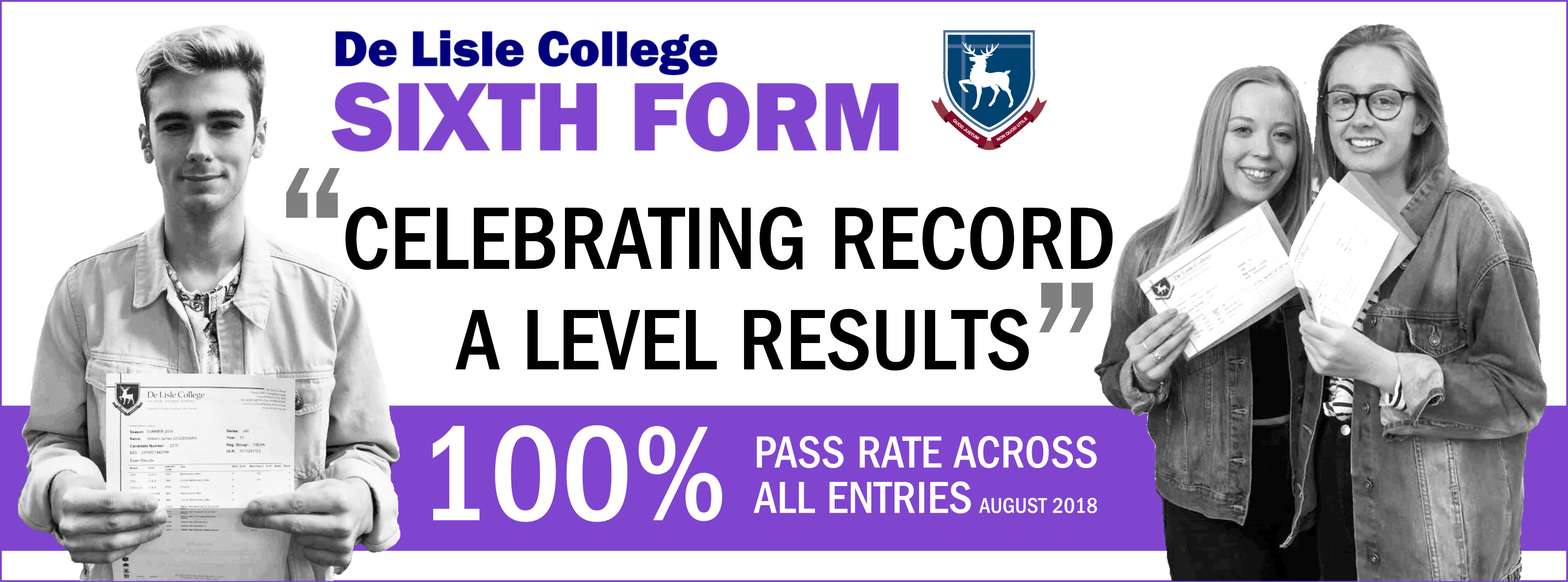 A level results banner 2018